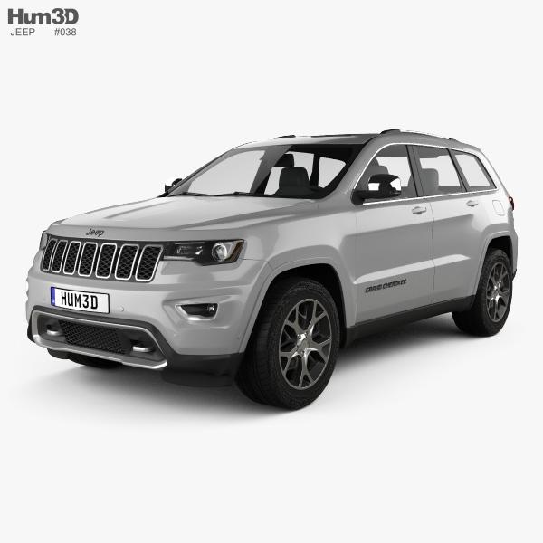 jeep grand cherokee overland 2018 3d model hum3d. Black Bedroom Furniture Sets. Home Design Ideas