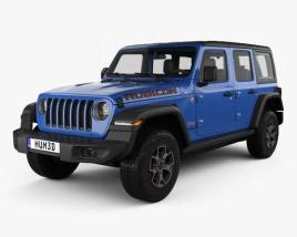 Jeep Wrangler Unlimited Rubicon 4-door 2018 3D model