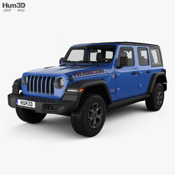 Jeep Wrangler Unlimited Rubicon 4 Door 2018 3d Model ...