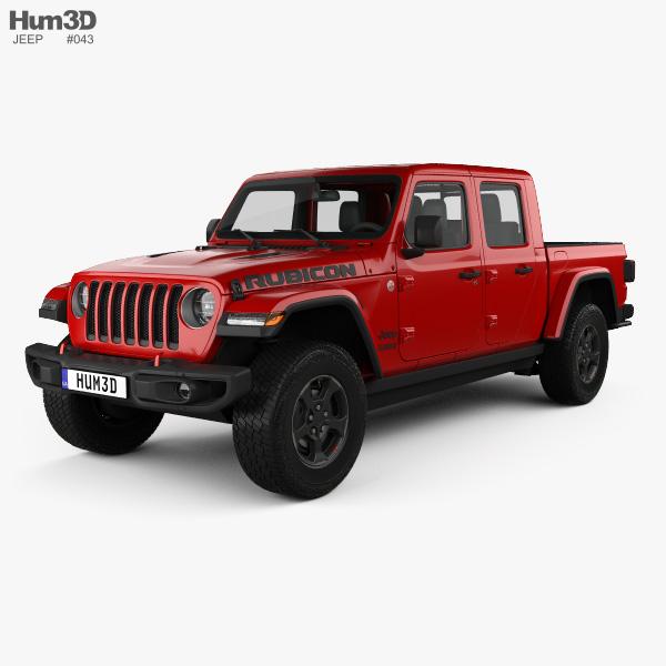 Jeep Gladiator (JT) Rubicon 2020 3D model - Vehicles on Hum3D