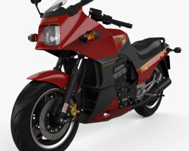 Kawasaki GPZ900R Ninja 1984 3D model