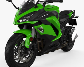Kawasaki Z1000SX 2017 3D model