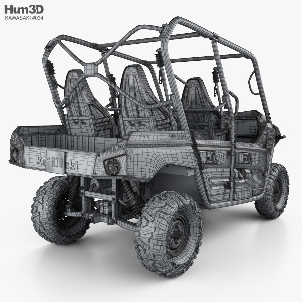 Kawasaki TERYX4 2016 3D model - Vehicles on Hum3D