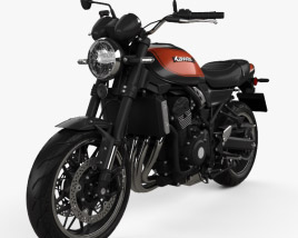 Kawasaki Z900RS 2018 3D model