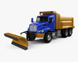 Kenworth T470 Road Cleaner Truck 3-axle 2009 3D model