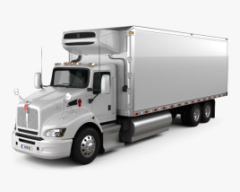Kenworth T440 Refrigerator Truck 3-axle 2009 3D model