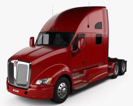 Kenworth T700 Tractor Truck 3-axle 2010 3D model