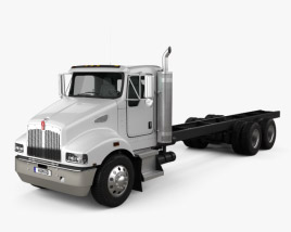 Kenworth T359 Day Cab Chassis Truck 3-axle 2013 3D model