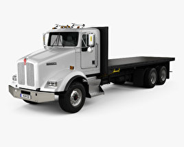 Kenworth T450 Flatbed Truck 1995 3D model