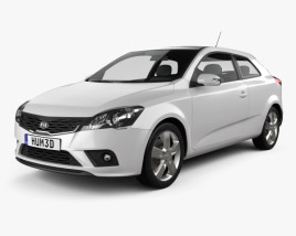 Kia Pro Ceed 3-door hatchback 2011 3D model
