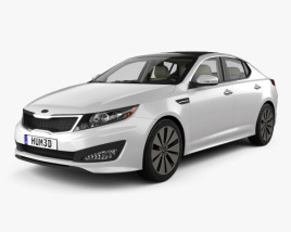 Kia Optima (K5) with HQ Interior 2011 3D model
