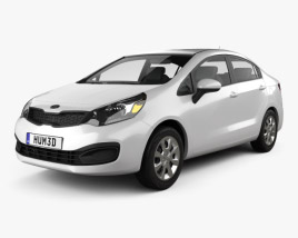 Kia Rio (US) sedan 2012 3D model