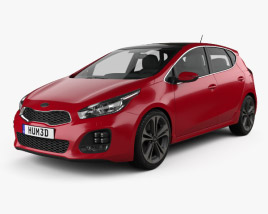 Kia Ceed GT Line hatchback  2015 3D model