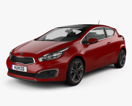 Kia Pro Ceed hatchback 3-door 2015 3D model