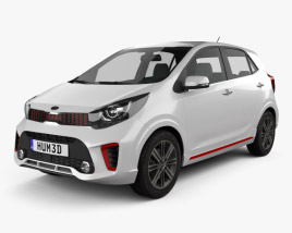 Kia Picanto (Morning) GT-Line 2017 3D model