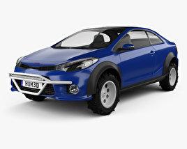 Kia Forte Koup Mud Bogger 2015 3D model