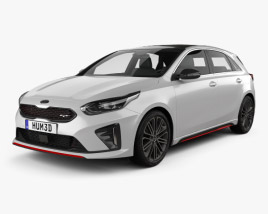 Kia Ceed GT hatchback 2018 3D model