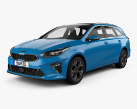 Kia Ceed sportswagon 2018 3D model