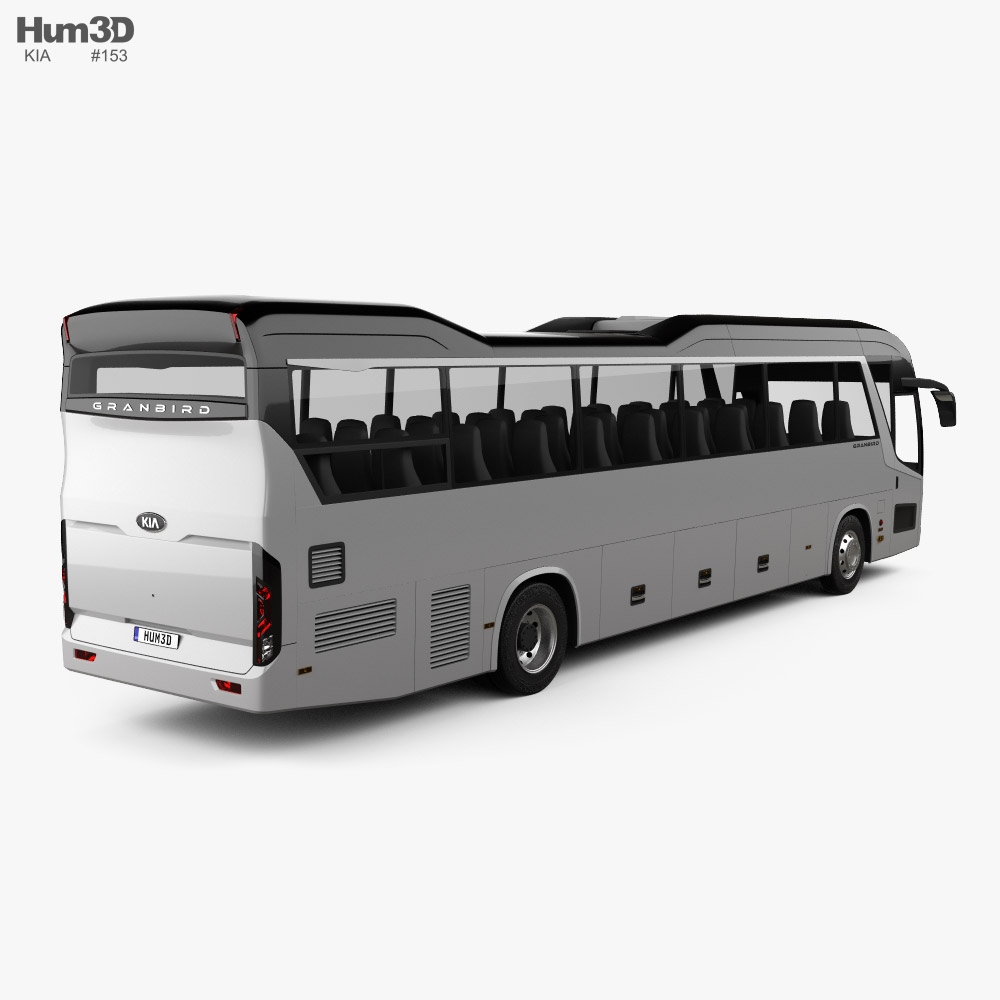 Kia Granbird Bus 2021 3d model