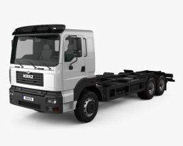 KrAZ 6511 Chassis Truck 2014 3D model