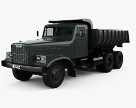 KrAZ 256B Dump Truck 1966 3D model