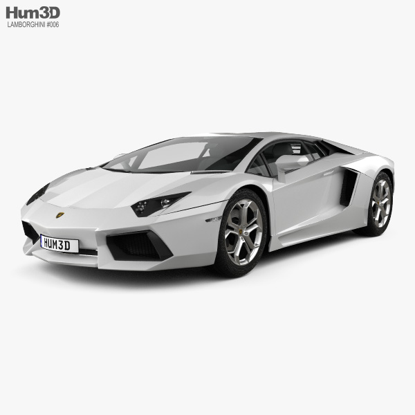 Lamborghini Aventador 2012 3d Model Vehicles On Hum3d