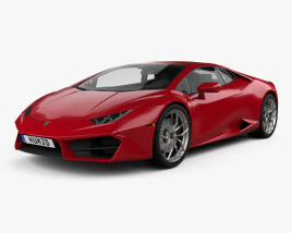 Lamborghini Huracan LP 580-2 2015 3D model