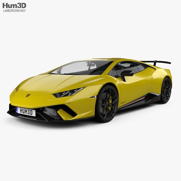 Lamborghini Huracan Performante 2017 3d Model Vehicles On Hum3d