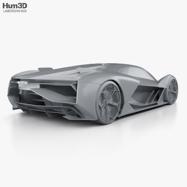 Lamborghini Terzo Millennio 2017 3D model - Hum3D