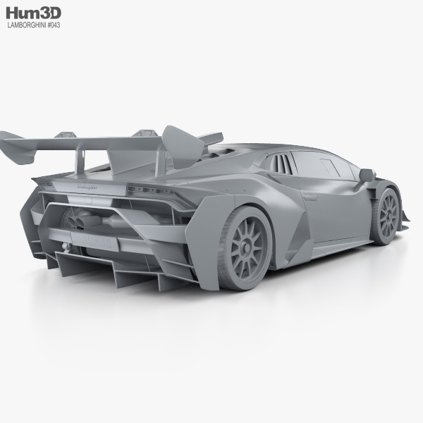 Lamborghini Huracan Super Trofeo Evo Race 2018 3d Model Vehicles