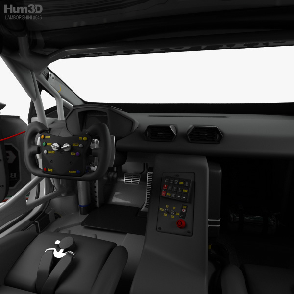 Lamborghini Huracan Super Trofeo With Hq Interior 2014 3d Model