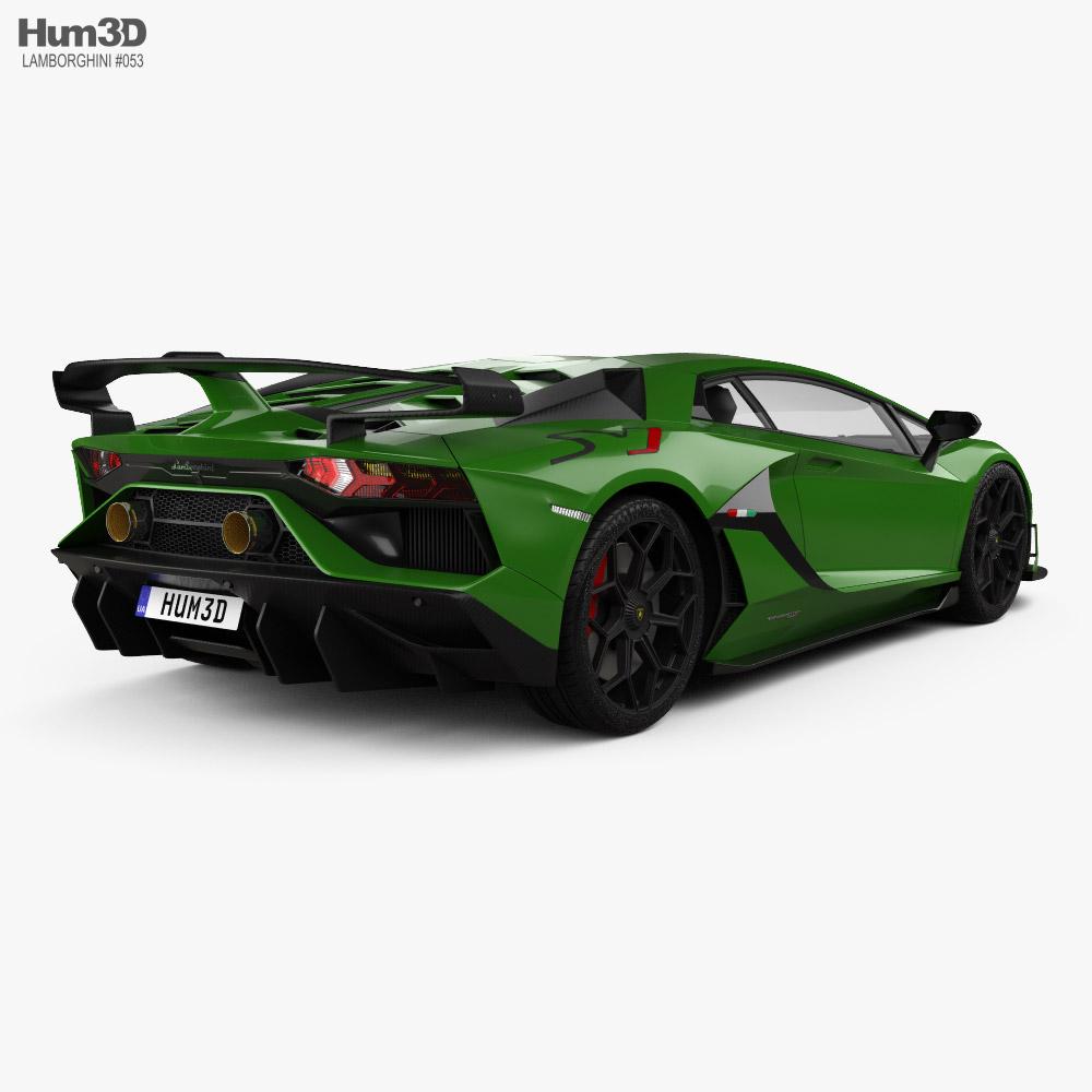 Lamborghini Aventador SVJ coupe 2019 3d model