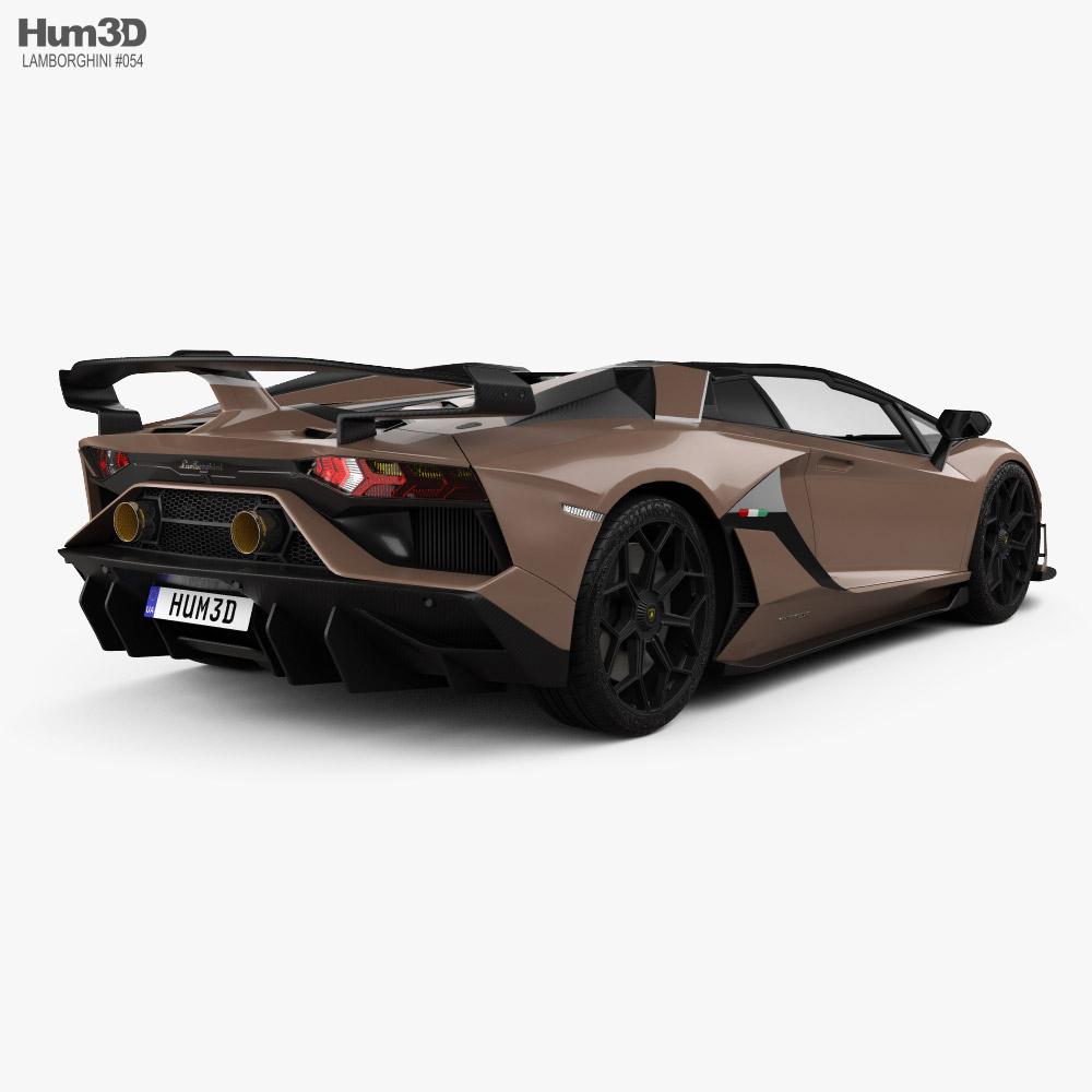 Lamborghini Aventador roadster SVJ 2019 3d model