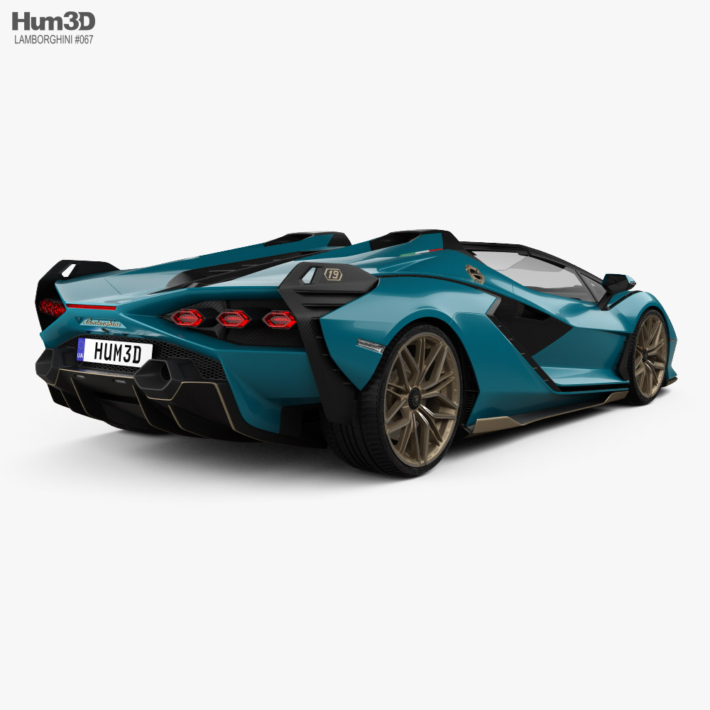 Lamborghini Sian Roadster 2020 3d model