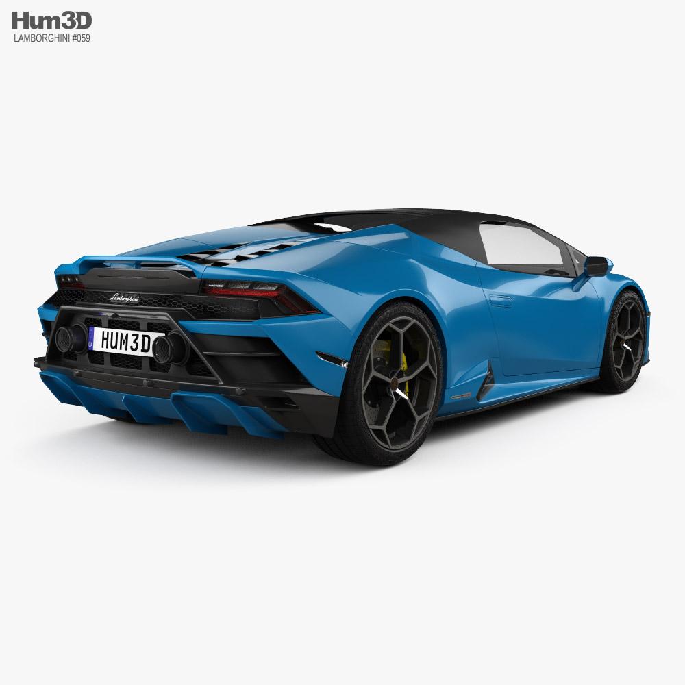 Lamborghini Huracan EVO RWD Spyder 2020 3d model
