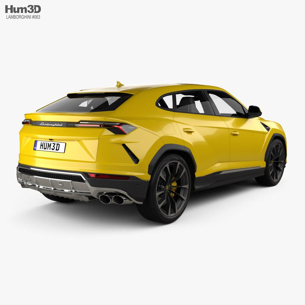 Lamborghini Urus with HQ interior and engine 2019 3d model