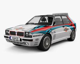 Lancia Delta HF Integrale Martini 1992 3D model