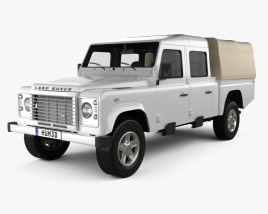 Land Rover Defender 130 High Capacity Double Cab PickUp 2011 3D model
