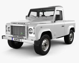 Land Rover Defender 90 pickup 2011 3D model