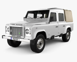 Land Rover Defender 110 Double Cab pickup 2011 3D model