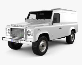 Land Rover Defender 110 hardtop 2011 3D model