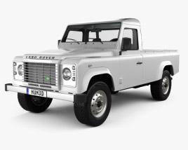 Land Rover Defender 110 pickup 2011 3D model