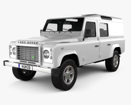 Land Rover Defender 110 Utility Wagon 2011 3D model