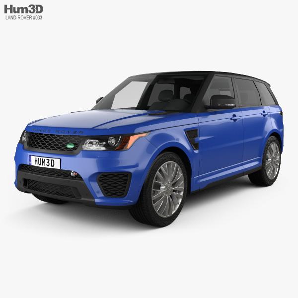 Review 2015 Range Rover Sport Hse: Land Rover Range Rover Sport SVR 2015 3D Model