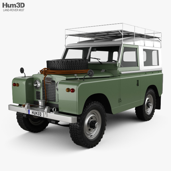 Land Rover Series IIA 88 Pickup 1968 3D Model