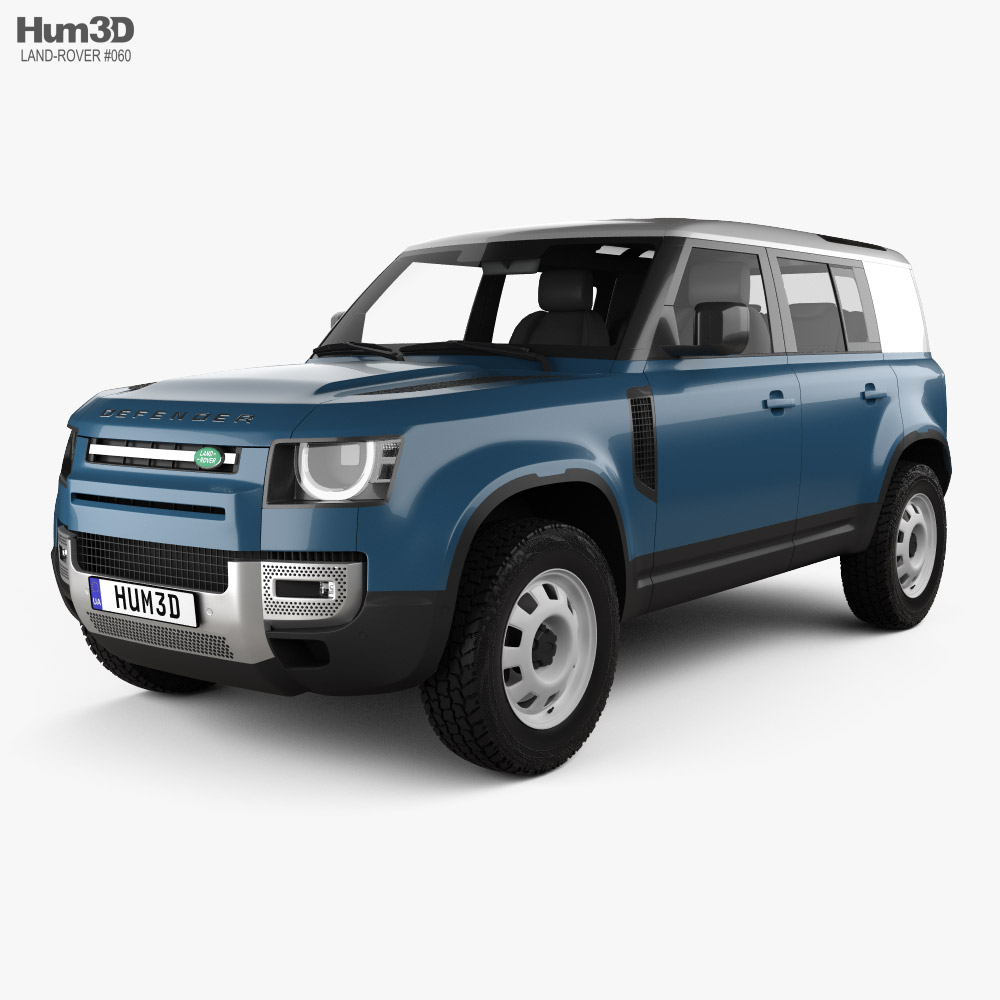 Land Rover Defender 110 HardTop 2020 3d model