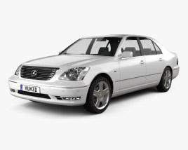 Lexus LS (XF30) 2003 3D model