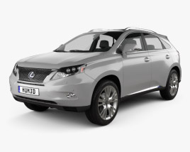 Lexus RX hybrid 2009 3D model
