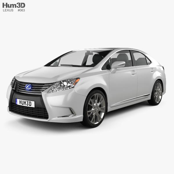 Lexus 2014: Lexus HS 2014 3D Model