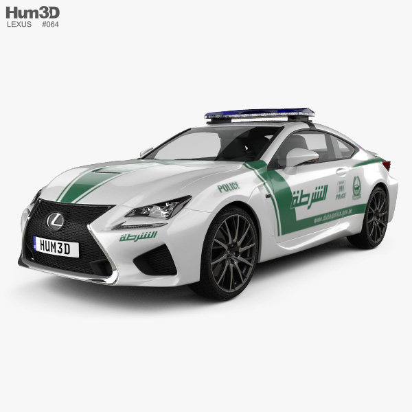 2015 Lexus Rc Suspension: Lexus RC F Police Dubai 2015 3D Model